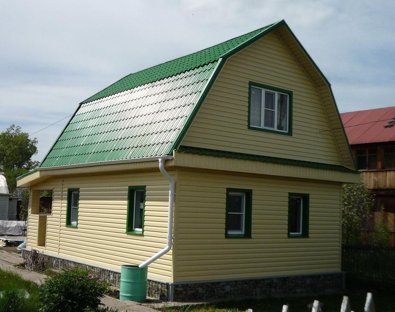 цвет сайдинга и крыши